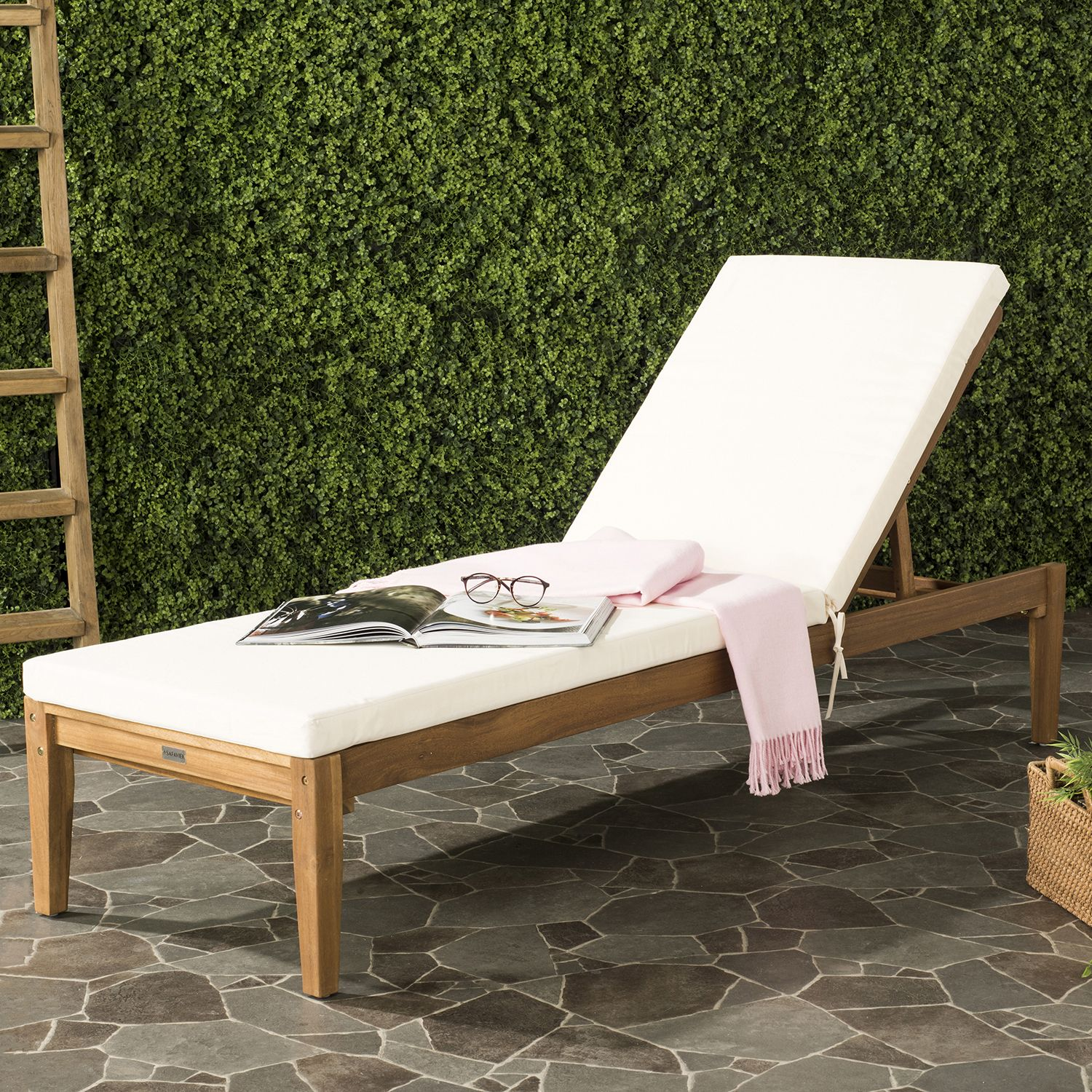 - Safavieh Azusa Indoor / Outdoor Chaise Lounge Chair Kohls