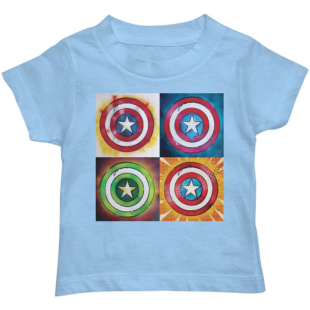 Toddler Boy Marvel Captain America Pop Art Tee