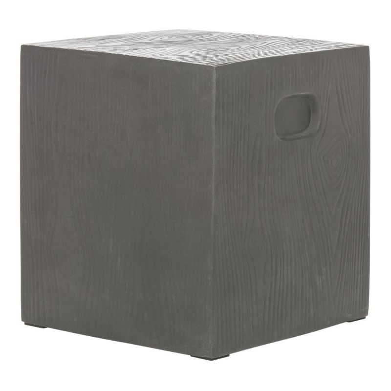 Safavieh Cube Accent End Table, Grey