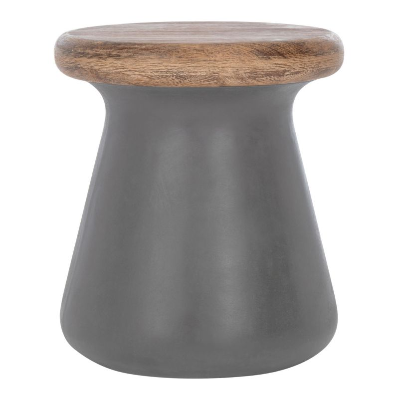 Safavieh Button Accent End Table, Grey