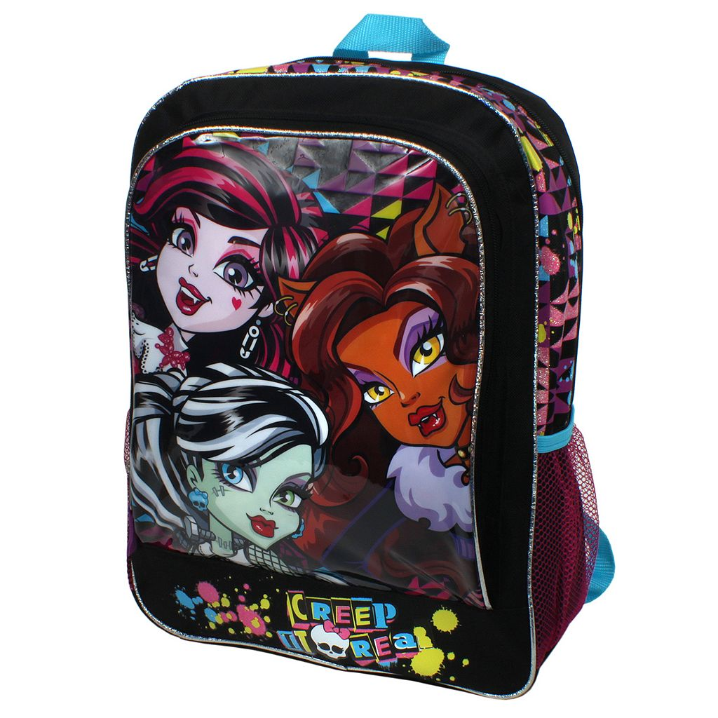 Girls Monsters High Sublimated Graphic Backpack