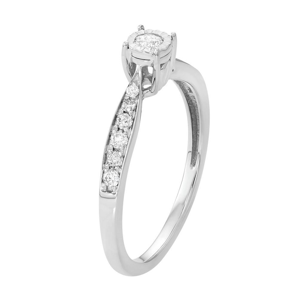 10k White Gold 1/4 Carat T.W. Diamond Promise Ring