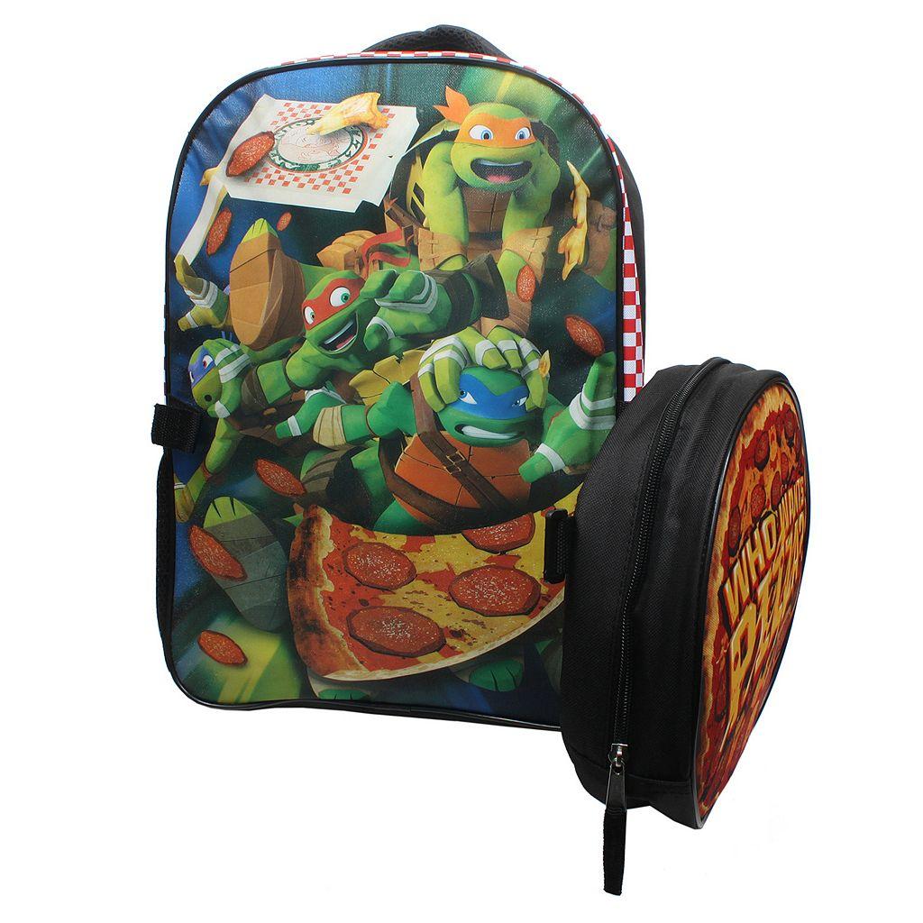 Kids Teenage Mutant Ninja Turtles Who Wants Pizza? Backpack & Lunch Tote Set