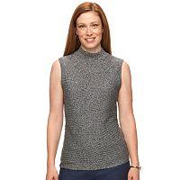 Petite Dana Buchman Sleeveless Mockneck Sweater