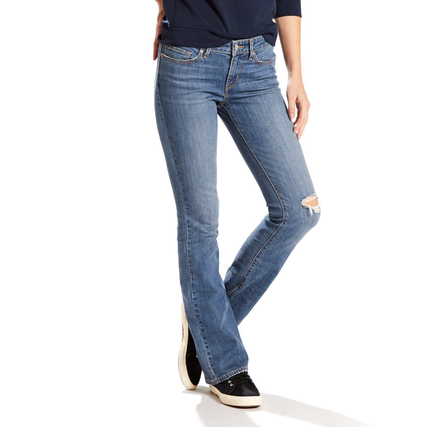 Levi's boot cut jeans womens