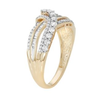 10k Gold 1/2 Carat T.W. Diamond Swirl Ring