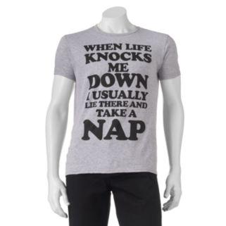 """Men's """"When Life Knocks Me Down..."""" Nap Tee"""