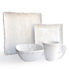 American Atelier Bianca Wave 16 pc Dinnerware Set