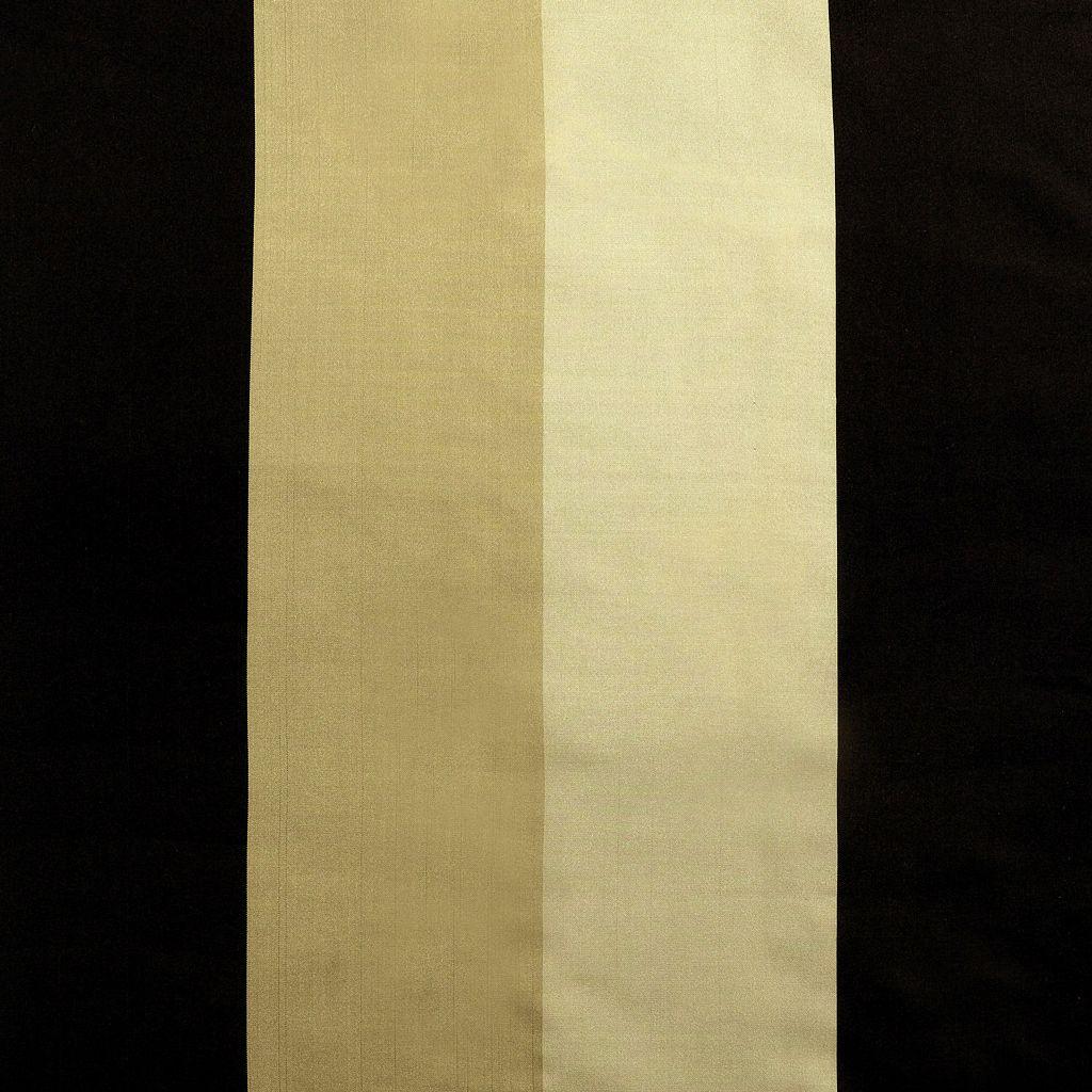 EFF Stripe Faux-Silk Taffeta Window Curtain