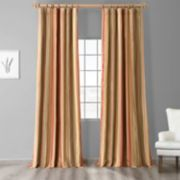 EFF Stripe Faux-Silk Taffeta Window Curtain