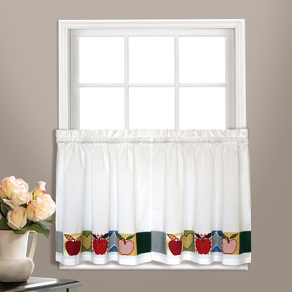 United Curtain Co. 2-pack Appleton Tier Pair