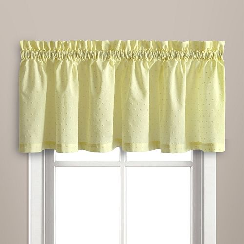 United Curtain Co. Dorothy Dots Window Valance