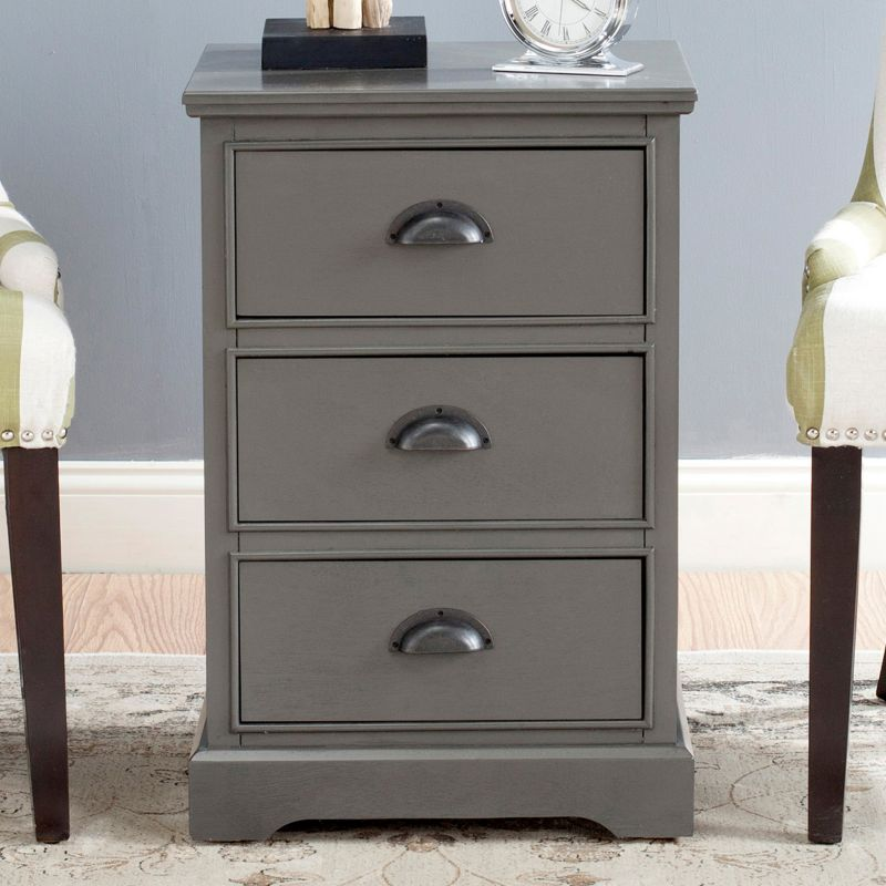 Safavieh Griffin 3-Drawer End Table, Grey