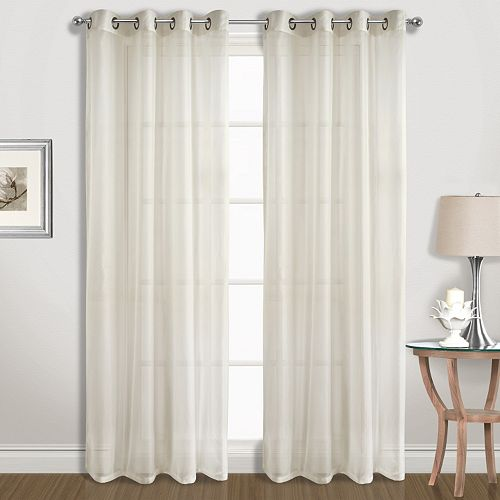 United Curtain Co. 2-pack Extra-Wide Sheer Window Curtains
