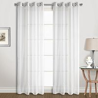 United Curtain Co. Extra-Wide Sheer Window Curtain Set