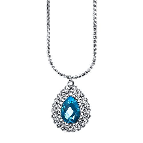 1928 Teardrop Pendant Necklace