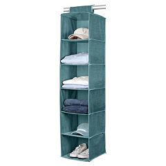 Simplify Dusty Blue 6 Shelf Sweater Organizer