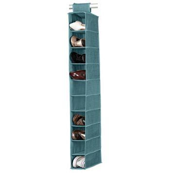 Simplify Dusty Blue 10 Shelf Shoe Organizer