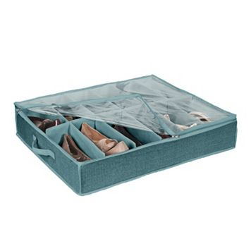 Simplify Dusty Blue 12 Pair Under The Bed Shoe Box