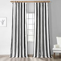EFF Stripe Faux-Silk Taffeta Curtain