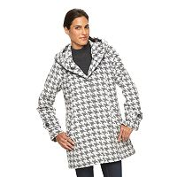 Women's d.e.t.a.i.l.s Houndstooth Faux Wool Walker Jacket