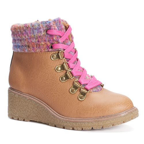 6bb93bd3619 Mudd® Girls  Colorful Wedge Boots