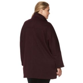 Plus Size d.e.t.a.i.l.s Sweater Fleece Poncho Jacket
