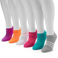 Women's adidas 6 pkStriped Neon No-Show Socks
