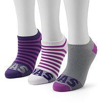 Women's adidas 3-pk. Striped Neon No-Show Socks