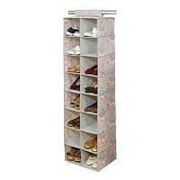 Laura Ashley Beatrice 16-Pocket Non-Woven Shoe Organizer