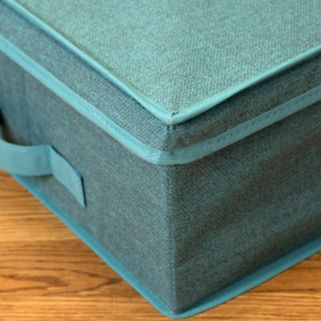 Simplify Dusty Blue Under The Bed Storage Box