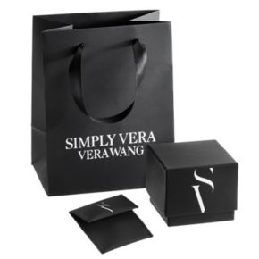 Simply Vera Vera Wang Sterling Silver 1/5 Carat T.W. Diamond Flower Bolo Bracelet