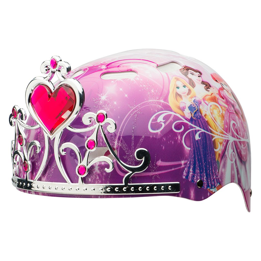 Disney Princess Girls 3D Tiara Helmet by Bell
