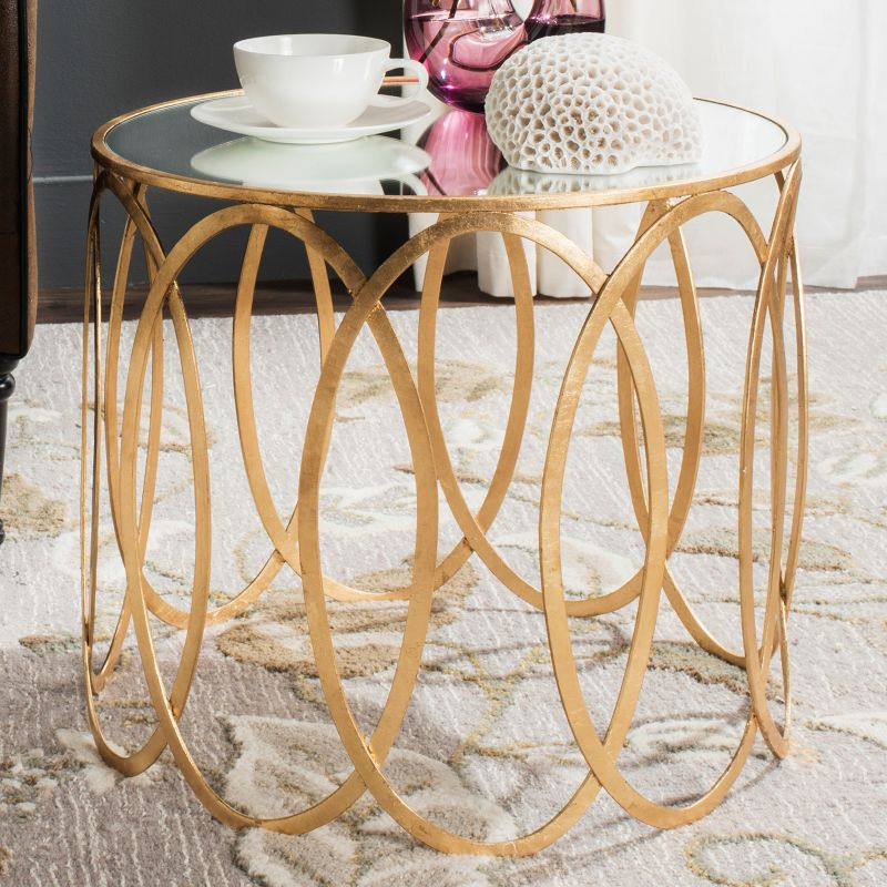 Safavieh Cyrah End Table, Gold