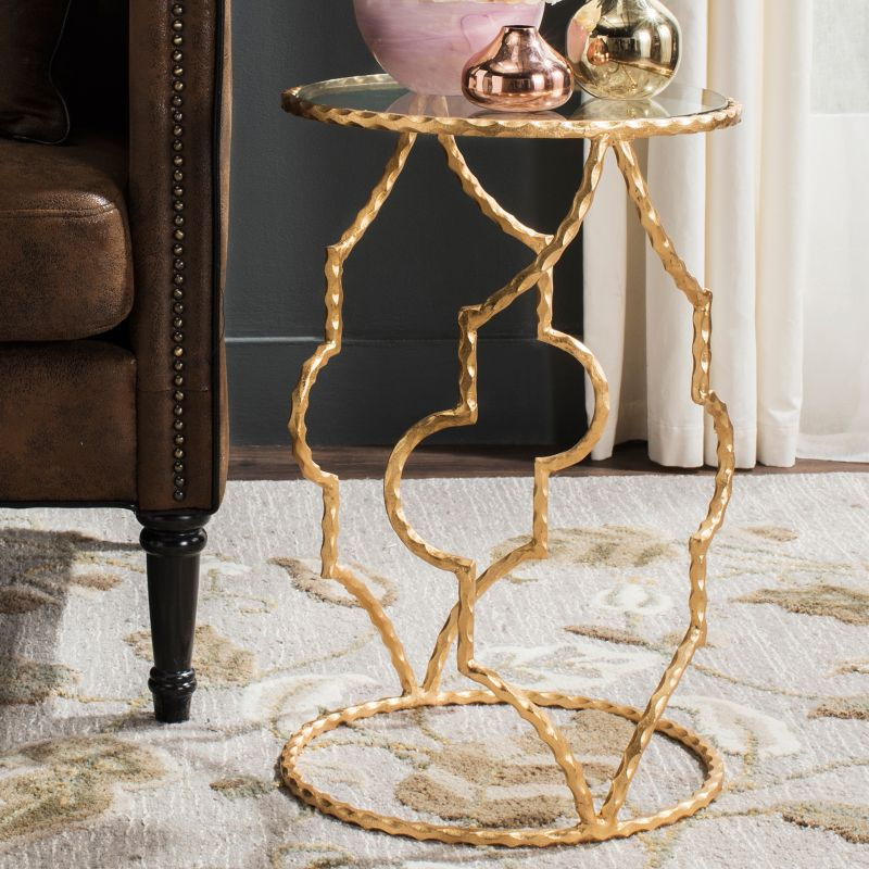 Safavieh Ira Round End Table, Gold