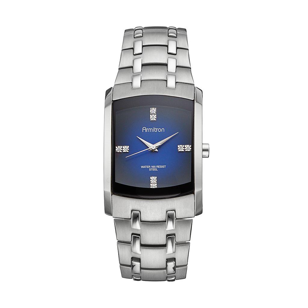 Armitron Men's Crystal Stainless Steel Watch - 20/4507DBSV