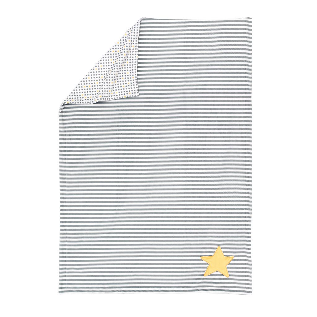 giggle Printed Reversible Velboa Plush Blanket