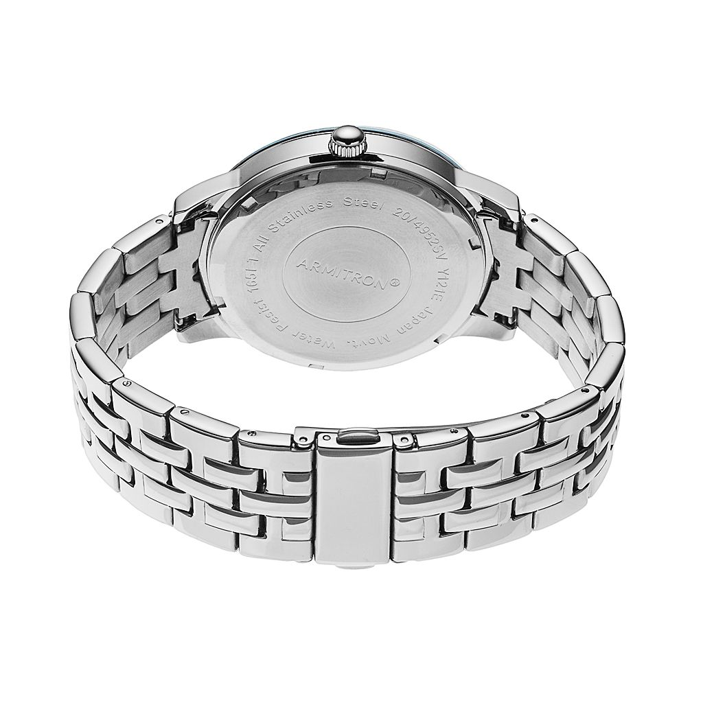 Armitron Men's Diamond Stainless Steel Watch - 20/4952BLSV