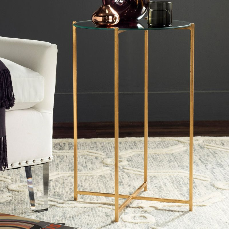 Safavieh Sylvain End Table, Gold