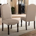Baxton Studio Zachary Upholstered Dining Chair 2-piece Set