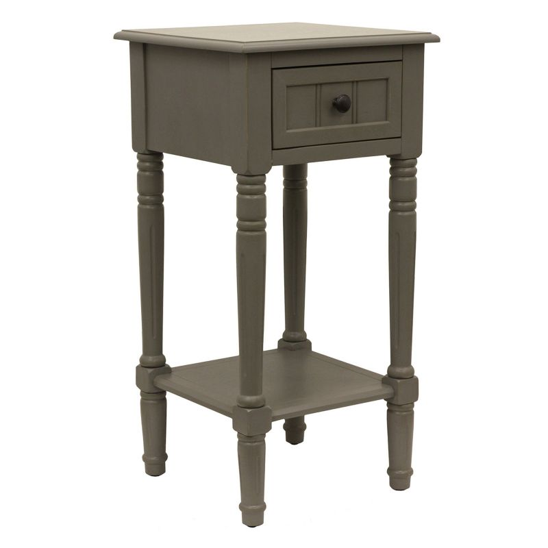 Decor Therapy Simplify 1-Drawer Accent End Table, Grey