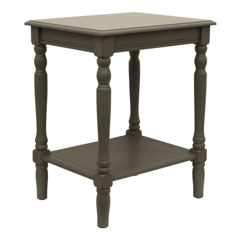 Decor Therapy Simplify End Table, Grey