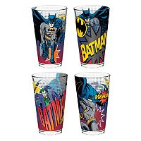 DC Comics Batman 4-pc. Glass Tumbler Set by Zak Designs