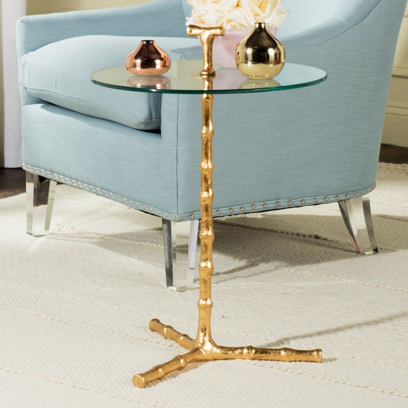 Safavieh Cardin Round End Table, Gold