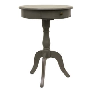 Decor Therapy Eased Edge 1-Drawer Pedestal End Table