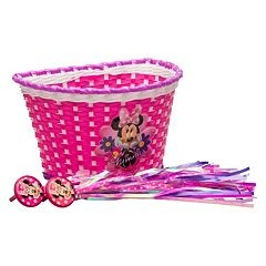 Disney's Minnie Mouse Girls Bike Basket & Streamers Set by Bell