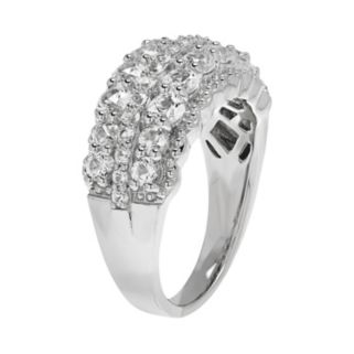Sterling Silver Lab-Created White Sapphire Ring