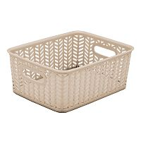 Simplify Herringbone Storage Tote