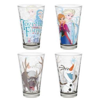 Disney's Frozen 4-pc. 10-oz. Glass Tumbler Set by Zak Designs