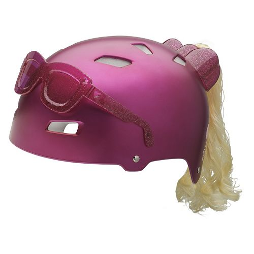 Girls Bell 3D Sunglasses & Ponytail Bike Helmet